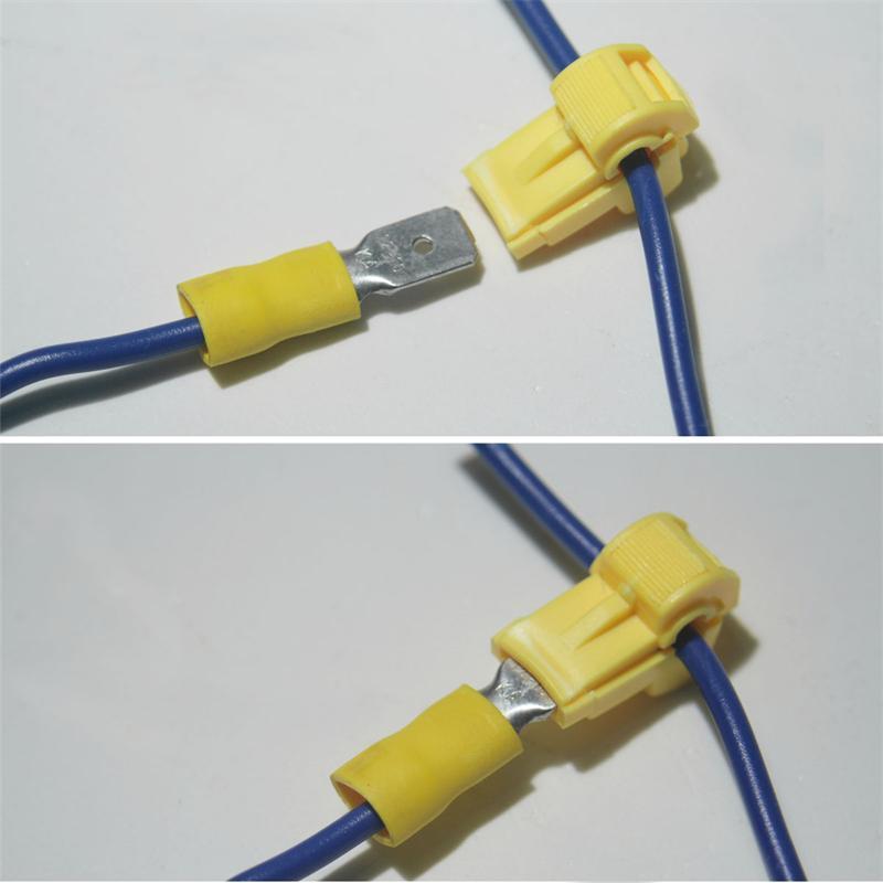 10 Abzweigverbinder fü Kabelschuhe GELB 4,0-6,0mm²