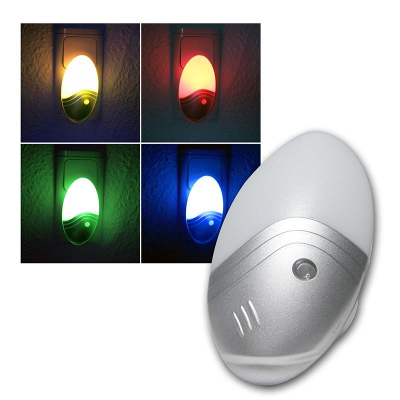 Sensor-Nachtlicht mit 1W LED-Leuchtmittel RGB