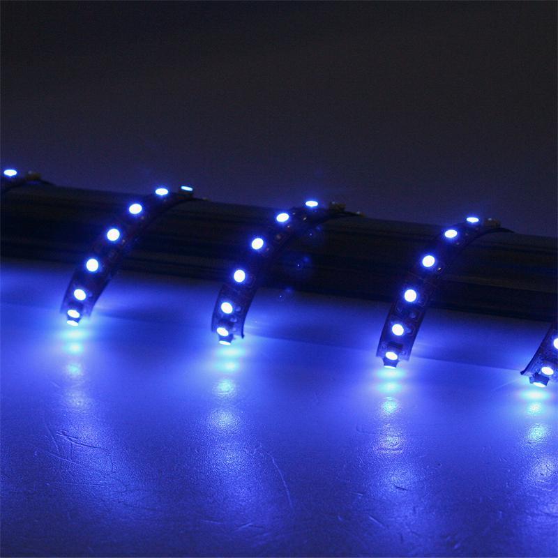 500cm FLEX SMD Streifen 600 LEDs blau BRAUN-PCB