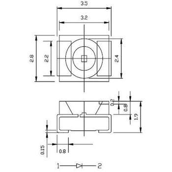 20 Stück SMD LEDs PLCC-2 WARM-WEISS warm-white Miniatur