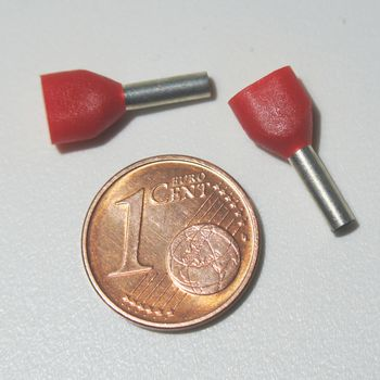 für 1,00mm² Kabel Aderendhülse rot 500 rote Aderendhülsen Schaft isoliert