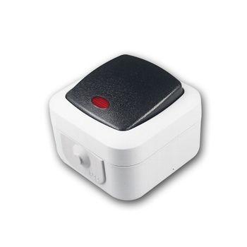 feuchtraum kontroll schalter ip44 250v 10a aufputz kontrollschalter ap grau ebay. Black Bedroom Furniture Sets. Home Design Ideas