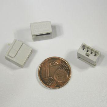10 st ck wago micro steckklemmen 4x 0 6 0 8 mm grau verbindungsklemme klemme ebay. Black Bedroom Furniture Sets. Home Design Ideas
