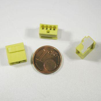 Giallo connessione morsetto morsetto 100 Pezzi WAGO Micro-steckklemmen 4x 0,6-0,8 mm²