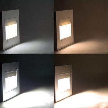 Stufenlicht Led led einbau leuchte 230v einbauspot stufenlicht stufenleuchte