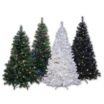 künstlicher Weihnachtsbaum, Christbaum mit LED Beleuchtung für Innen ...