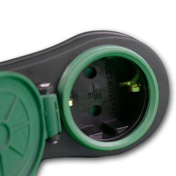 rev zwischenstecker schalter ip44 garten aussen steckdose adapter stecker 3680w 4006341706812 ebay. Black Bedroom Furniture Sets. Home Design Ideas