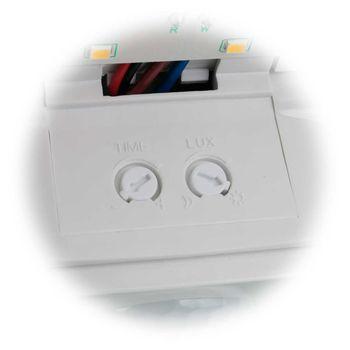 LED Wandleuchte mit PIR Bewegungsmelder IP44 230V 10W 910lm Sensor-Wand-Lampe