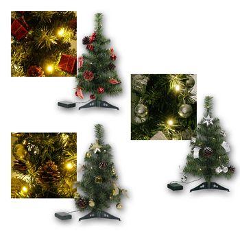 Mini Weihnachtsbaum Mit Batterie.Weihnachtsbaum 45cm Mit Deko Led Lichterkette Christbaum