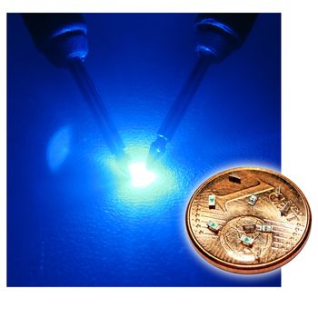 100 SMD LEDs 0603 Blau blaue mini SMDs blue bleue azzurro blauw azul SMT LEDs